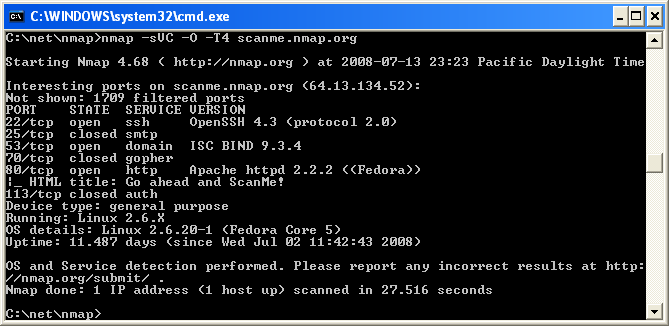 Nmap windows 7