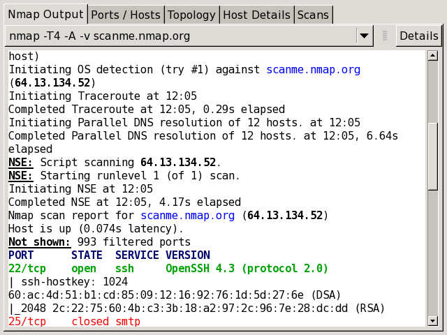 interpreting scan results | nmap network scanning