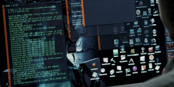 KDE with Emerald in the movie Die Hard 4.0.