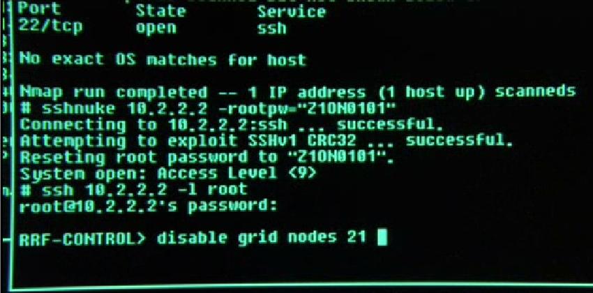 Версии ssh, Тринити решает применить эксплойт sshnuke для сброса root&#x