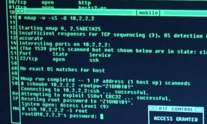 Trinity hacking using Nmap